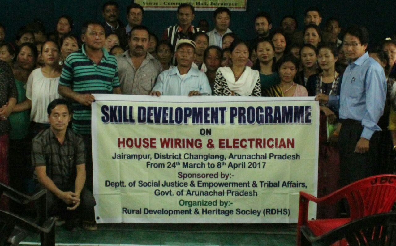 jairampur |mar 25 | local mla laisam simai, after inaugurating a two-week house  wiring & electrician training here today, exhorted 35 local youths